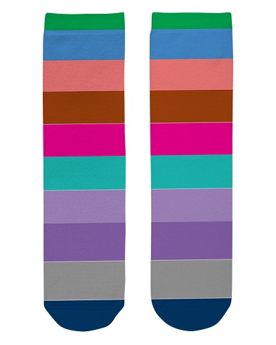 Colorful Bold Striped Socks