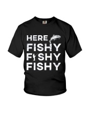HERE FISHY FISHY FISHY Youth T-Shirt tile