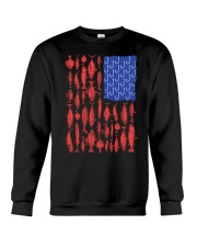 Fishing Patriotic American Crewneck Sweatshirt thumbnail