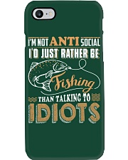I'D JUST RATHER BE FISHING THAN TALKING TO IDIOTS Phone Case thumbnail