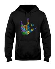 Mosaic Sign Language Hooded Sweatshirt front