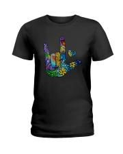 Mosaic Sign Language Ladies T-Shirt thumbnail
