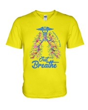 Respiratory Therapy V-Neck T-Shirt tile
