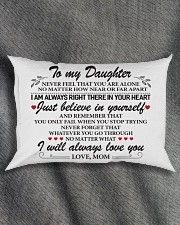 To My Daughter Rectangular Pillowcase aos-pillow-rectangle-front-lifestyle-1