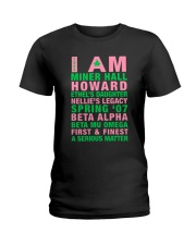 I am Ladies T-Shirt front