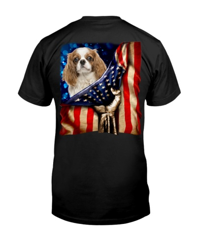 Cavalier King Charles Spaniel American Flag