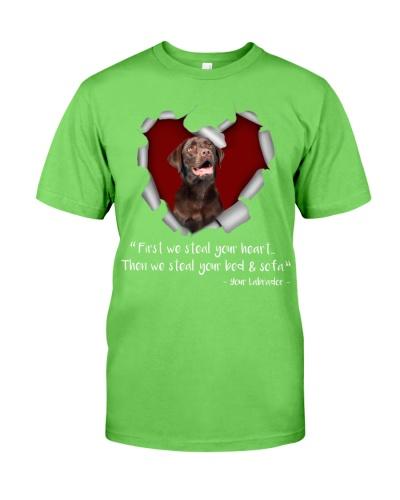 Chocolate Labrador Retriever-Torn Paper Heart