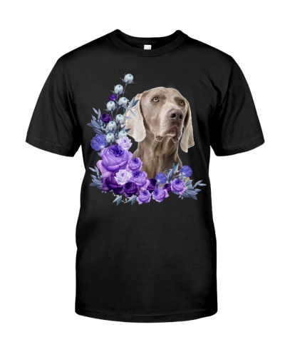 Weimaraner-Purple Flower Stems