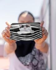 Japanese Bobtail Cat Stripes FM Cloth face mask aos-face-mask-lifestyle-07