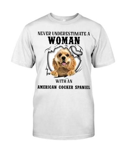 Woman With An American Cocker Spaniel