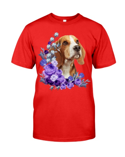 Beagle-Purple Flower Stems