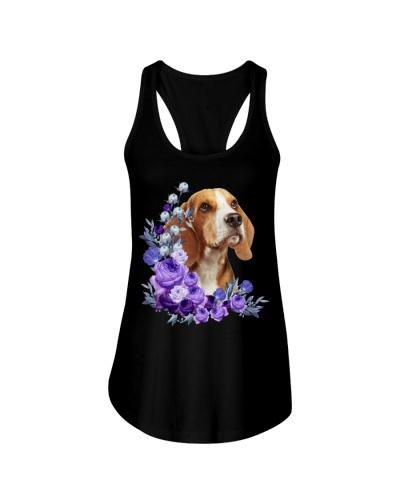 Beagle-Purple Flower Stems