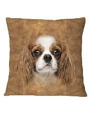 Cavalier King Charles Spaniel-Face and Hair Square Pillowcase thumbnail