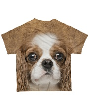 Cavalier King Charles Spaniel-Face and Hair All-over T-Shirt back