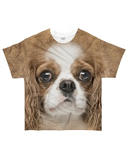 Cavalier King Charles Spaniel-Face and Hair All-over T-Shirt front