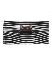 Bombay Cat Stripes FM Cloth face mask front