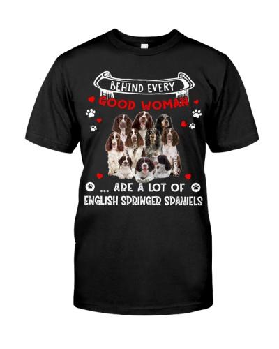Behind Every Good Woman-English Springer Spaniel