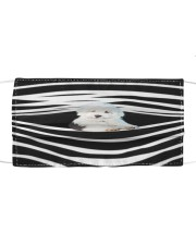 Old English Sheepdog Stripes FM Cloth face mask front