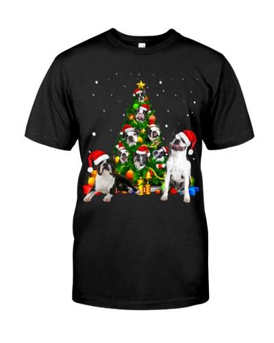 Boston Terriers-Christmas Tree