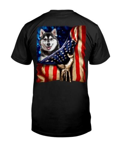 Husky American Flag