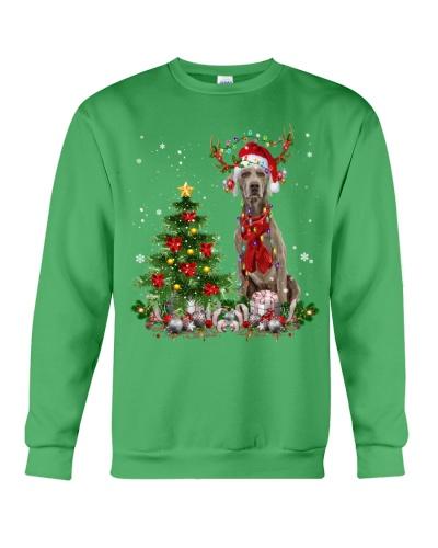 Weimaraner-Reindeer-Christmas