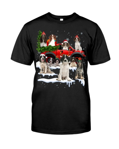 English Springer Spaniel-Christmas Car