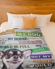 """Chihuahua-BLK-NT234 Large Fleece Blanket - 60"""" x 80"""" aos-coral-fleece-blanket-60x80-lifestyle-front-02a"""