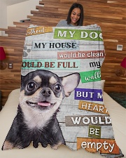 """Chihuahua-BLK-NT234 Large Fleece Blanket - 60"""" x 80"""" aos-coral-fleece-blanket-60x80-lifestyle-front-04"""