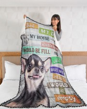"""Chihuahua-BLK-NT234 Large Fleece Blanket - 60"""" x 80"""" aos-coral-fleece-blanket-60x80-lifestyle-front-11a"""