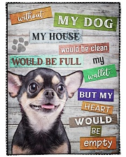 """Chihuahua-BLK-NT234 Large Fleece Blanket - 60"""" x 80"""" front"""