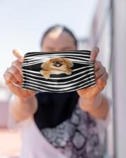 Pekingese Stripes FM Cloth face mask aos-face-mask-lifestyle-07