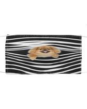 Pekingese Stripes FM Cloth face mask front
