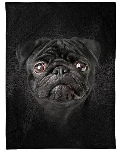 Black Pug Face 3D