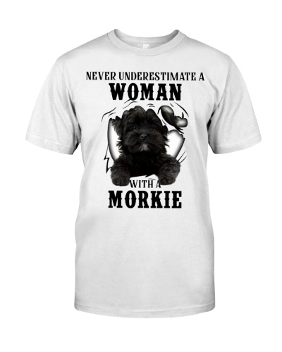 Woman With A Black Morkie