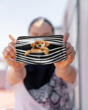 Golden Retriever Stripes FM Cloth face mask aos-face-mask-lifestyle-07