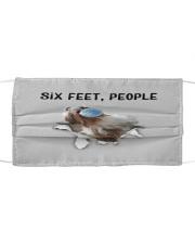 Shih Tzu Six Feet People FM Cloth face mask front