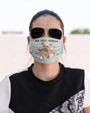 Yorkshire Terrier Six Feet People FM Cloth face mask aos-face-mask-lifestyle-02