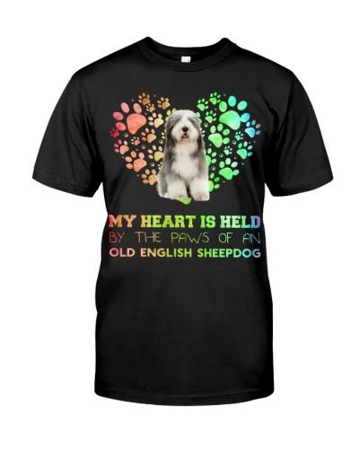 Old English Sheepdog Heart Paw