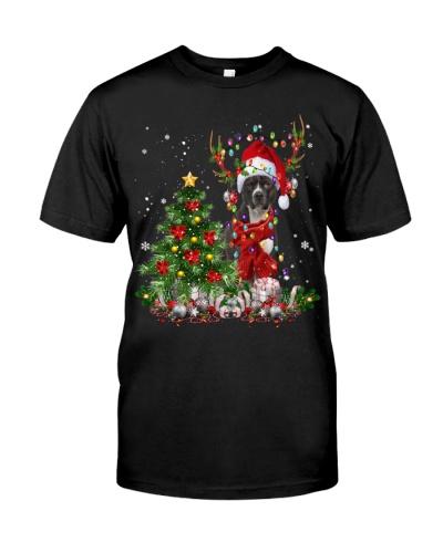 American Pitbull Terrier-Reindeer-Christmas