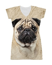 Pug-Face and Hair All-over Dress thumbnail