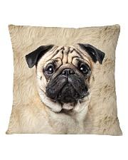 Pug-Face and Hair Square Pillowcase thumbnail