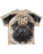 Pug-Face and Hair All-over T-Shirt back