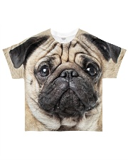 Pug-Face and Hair All-over T-Shirt front