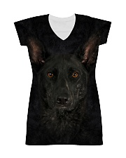 Dutch Shepherd-Face and Hair All-Over Dress tile