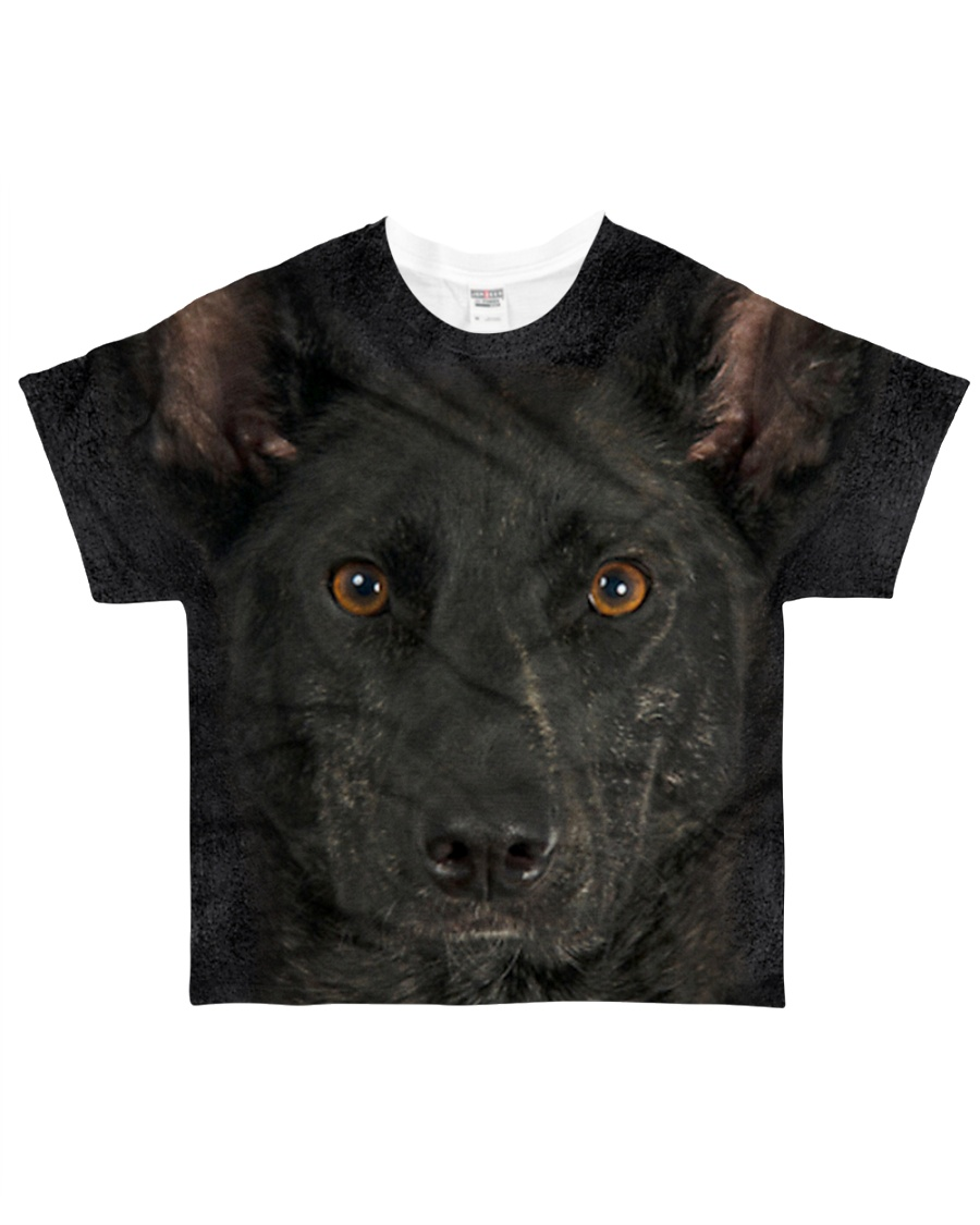 Dutch Shepherd-Face and Hair All-over T-Shirt