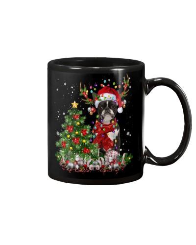 Boston Terrier-Reindeer-Christmas