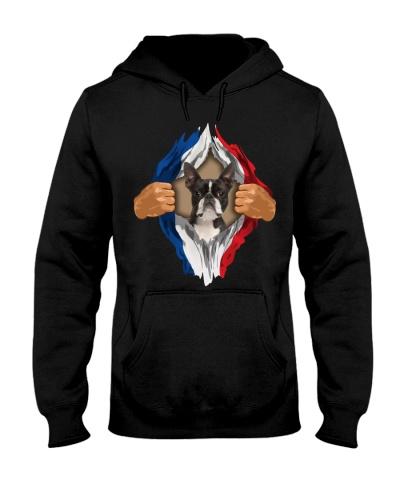 Boston Terrier-Flag of France