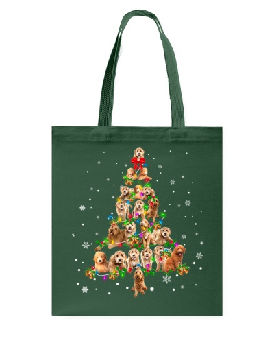Goldendoodle-Christmas Tree