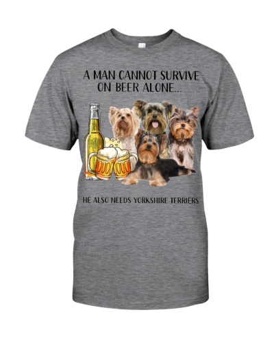 He Also Needs Yorkshire Terriers  And Beer