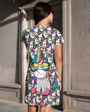 Unicorn - Pixel All-over Dress aos-dress-back-lifestyle-1